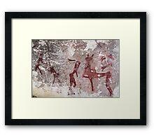 Ancient African Bushman Rock Art 01 Framed Print