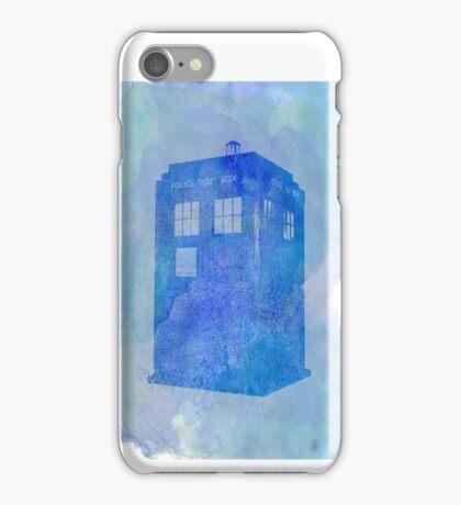 Tardis (watercolour) iPhone Case/Skin