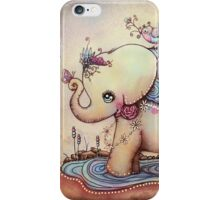 Little Diana the Vintage Elephant Princess iPhone Case/Skin