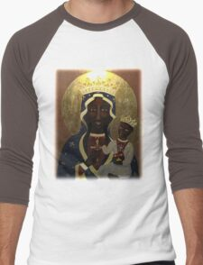 The Black Madonna Men's Baseball ¾ T-Shirt