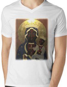 The Black Madonna Mens V-Neck T-Shirt