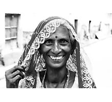 Smile, Life is just a moment Photographic Print