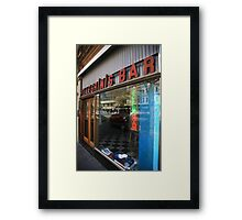 pellegrinis espresso bar. melbourne - victoria Framed Print
