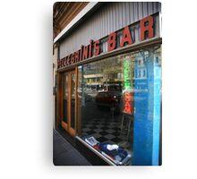 pellegrinis espresso bar. melbourne - victoria Canvas Print