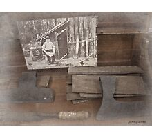 Old woodworking tools Photographic Print