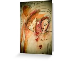 dreaming of love Greeting Card