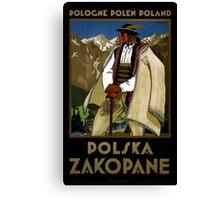 Zakopane Poland Vintage Travel Poster Restored Canvas Print