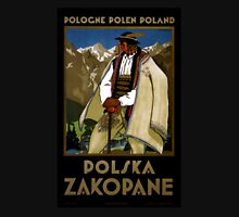 Zakopane Poland Vintage Travel Poster Restored Womens Fitted T-Shirt