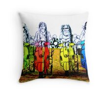 The Bikers Throw Pillow