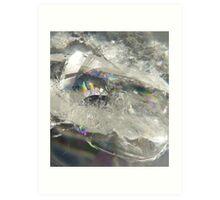 Rainbow quartz Art Print