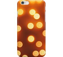 Abstract defocused and blur bokeh of small yellow lights iPhone Case/Skin