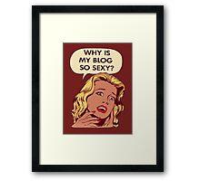 Blog pop art Framed Print