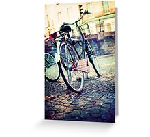 Vintage Bike Greeting Card