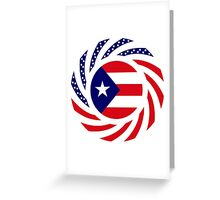 Puerto Rican American Multinational Patriot Flag Series Greeting Card