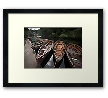 Boats, Knaresborough Framed Print