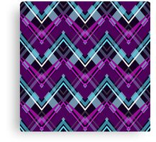 Bright zigzag pattern Canvas Print