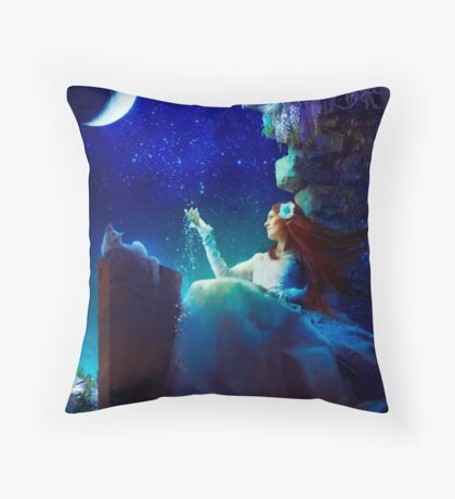 A Conversation With The Moon Throw Pillow