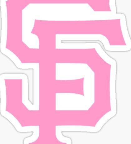 Pink SF Giants Sticker