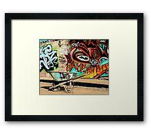 A Wheelbarrow of Graffiti Framed Print