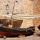 Old Boat on Display by Laurel Talabere