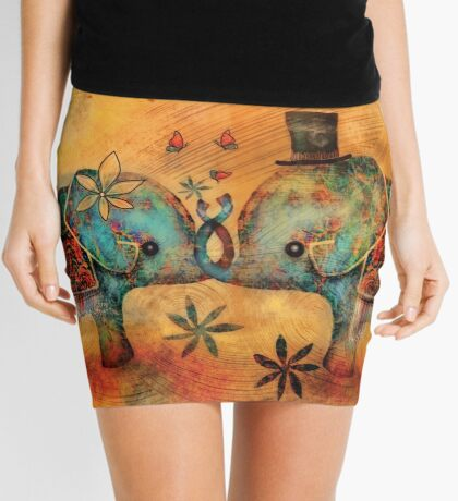 Vintage Elephants Mini Skirt