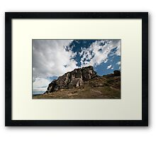 the rugged rocks Framed Print