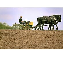 Plowing and Planting Photographic Print