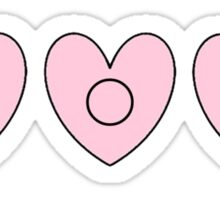 Alpha Omicron Pi Hearts Sticker