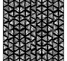 Ink triangles Photographic Print