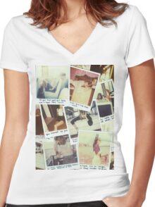 polaroids Women's Fitted V-Neck T-Shirt