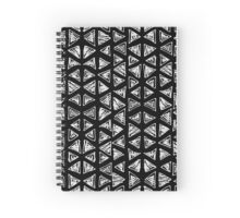 Ink triangles Spiral Notebook