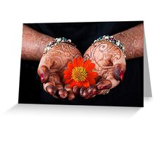 The Art of Henna Painting. Greeting Card