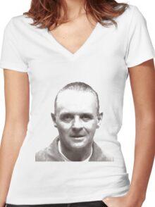 Hannibal Lecter 3 Women's Fitted V-Neck T-Shirt