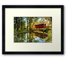 Sugar Creek Covered Bridge Framed Print