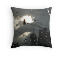 Rain in the City Throw Pillow