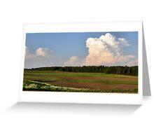 Ribbon Field Greeting Card
