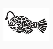 Angler Fish Tribal Design  Kids Clothes