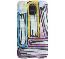 Watercolor books on pages Samsung Galaxy Case/Skin