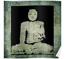 Green Tranquil Buddha Poster