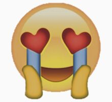 Ultimate Fangirl (Crying Heart Eyes) Emoji Sticker by Vrai Chic