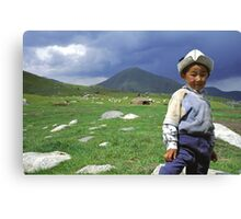 the boy from the highlands Canvas Print