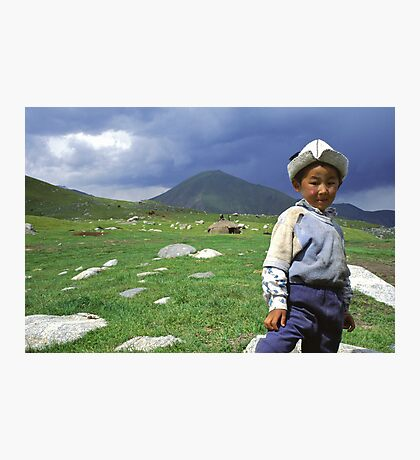 the boy from the highlands Photographic Print
