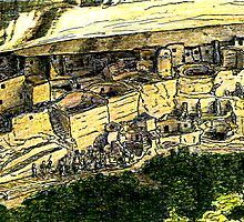 Mesa Verde 2000 jGibney The MUSEUM Zazzle Gifts RedBubble by TheMUSEUM