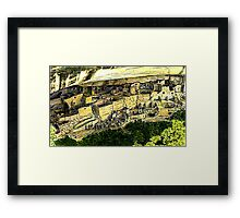 Mesa Verde 2000 jGibney The MUSEUM Zazzle Gifts RedBubble Framed Print