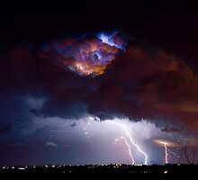 Highway 52 Lightning Boulder County by Bo Insogna