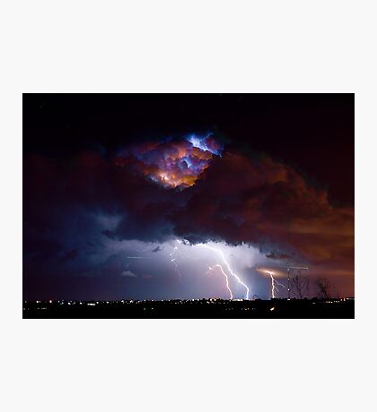 Highway 52 Lightning Boulder County Photographic Print