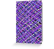 Precious Purple Pixelation Greeting Card