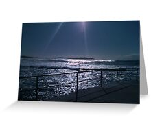 Silvery Sunrise off Dee Why Beach Greeting Card