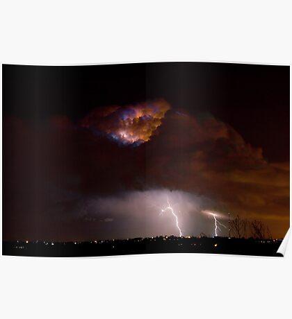 Lightning Storm Clouds Poster