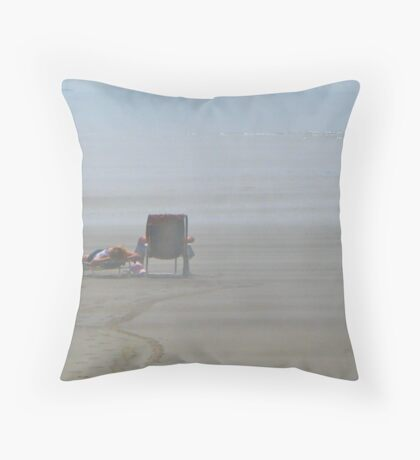 A Day at the Seaside Throw Pillow